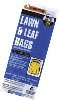 "P201/10 10ct 33"" X 44"" .8mil Black Poly Lawn & Leaf Bag"