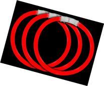 Fun Central P74 8 Inch Glow Stick Bracelets Red Glowsticks