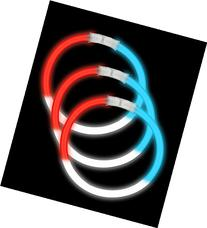 Fun Central P78 8 Inch Glow in the Dark Bracelets - Red-