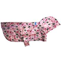 RC Pet Products Packable Dog Rain Poncho, Pitter Patter Pink