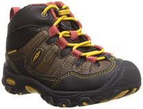 KEEN Pagosa Mid WP Hiking Shoe , Blackberry/Bougainvillea,