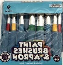 Paint Brushes & Apron Set