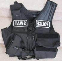 Paintball / Airsoft Black SWAT / POLICE Tactical Vest Field