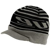 DYE Precision Player Beanie with Brim - Black/Gray