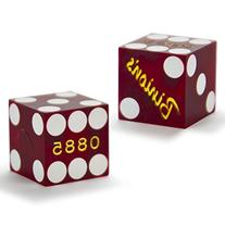 Pair  of Official 19mm Casino Dice Used at Binion's Gambling
