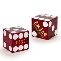 Pair  of Official 19mm Casino Dice Used at the Palms Casino