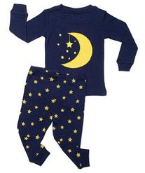 "Leveret ""Moon & Stars"" 2 Piece Pajama"