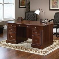 "Sauder 412902 Palladia Executive Desk, L: 65.12"" x W: 29.53"
