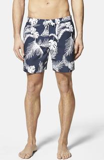 Men's Original Penguin 'Colley' Palm Print Swim Trunks, Size