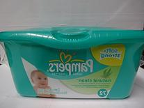 Pampers Natural Clean Baby Wipes Tub, 72 ct