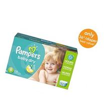 Pampers Baby Dry Size 6 Diapers Economy Plus Pack - 128