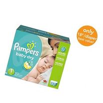 Pampers Baby Dry Diapers Size 1 Economy Plus Pack - 252