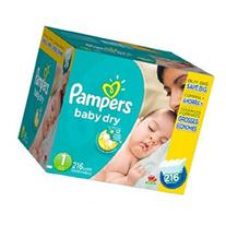 Pampers Baby Dry Size 1 Diapers Super Economy Pack - 216
