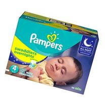 Pampers Swaddlers Overnights Sesame Street Diapers Size 5 -