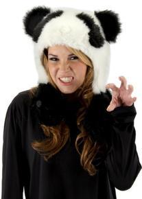 elope Panda Bear Hug Hat, Black/White, One Size