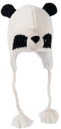 Nirvanna Designs CHPANDA2 Panda Hat with Fleece , Black/