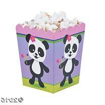 Panda Party Popcorn Boxes - 24 pc