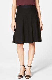 Women's Nic+Zoe Panel Twirl Skirt, Size X-Large - Black