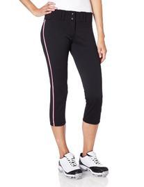 Easton Women's Pro Pant with Piping - Medium Black/Pink