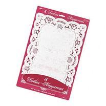 Paper Doilies 10X14-1/2 Rectangle 8/Pkg-White