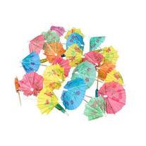 Paper Flower Parosols for Food and Drinks