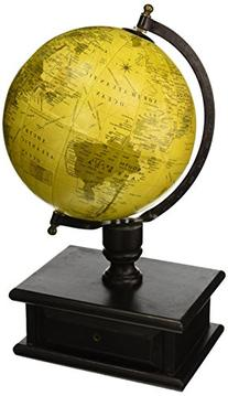 Parchment 6 in Diam. Globe with Storage Drawer