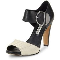 Karl Lagerfeld Paris Leather Block-Heel Ankle-Strap Sandals
