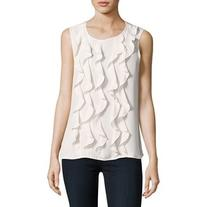 Karl Lagerfeld Paris Ruffled Front Blouse