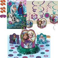 Frozen Party Pack - Table Decoration, Olaf Party Game and
