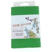 Belle Hop Passport Case Leather Green ID Holder Travel