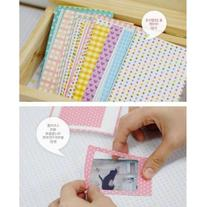 100PCS Pastel Color Instant Films Sticker For FujiFilm