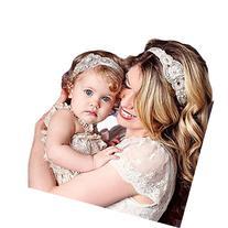 Baishitop Paternity Mom and Baby Girls Headband, Rhinestone