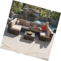 Belleze© 7pcs Outdoor Patio Aluminum Furniture Rattan