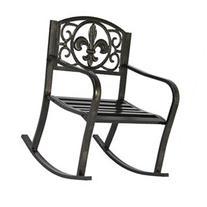 Patio Metal Rocking Chair Porch Seat Deck Outdoor Backyard
