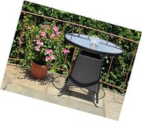 Patio Resin Outdoor Wicker Round 31.5 Inches Dining Table w
