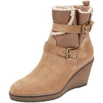 John Lewis Patrice Wedge Ankle Boots, Neutral