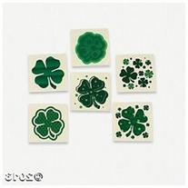 St Patrick's Day Party Favors 72 Green Shamrock Tattoos