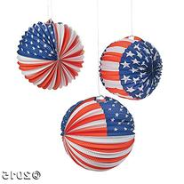 Patriotic Balloon Lanterns,  6 Pack
