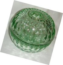 Mount Vernon pattern Candle Lamp in green glass