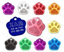 Small Paw Aluminum Pet ID Tag Custom Engraved Dog & Cat