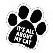 Imagine This Paw Car Magnet, It's All About My Cat, 5-1/2-