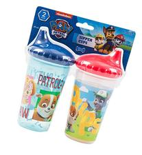 PAW Patrol Chase and Friends Slim Sippy Cups, Blue and Red