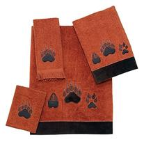 Avanti Paw Prints 4-Piece Towel Set, Copper