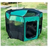 Pawhut 46 Deluxe Soft Sided Folding Pet Playpen / Crate -