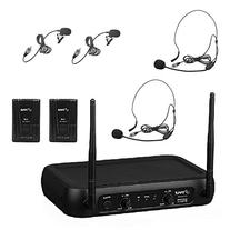 Pyle PDWM2145 VHF Wireless Microphone System, 2 Headset/