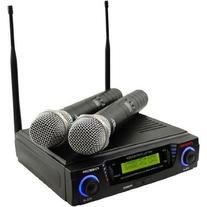 Pyle-Pro PDWM3300 Wireless Professional UHF Dual Channel