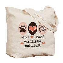 CafePress - Peace Love Veterinary Medicine Tote Bag -