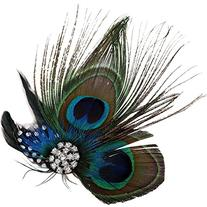 Simplicity Peacock Feather Hair Clip/Fascinator with