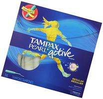 Tampax Pearl Active Plastic, Regular Absorbency, Unscented