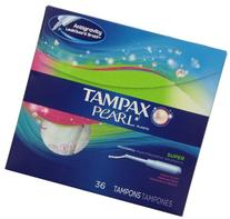 Tampax Pearl Plastic Fresh Scent Tampons, Super Absorbency,